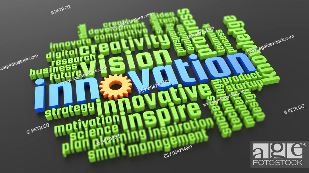 Stock Photo: Innovation development and vision creativity in business.