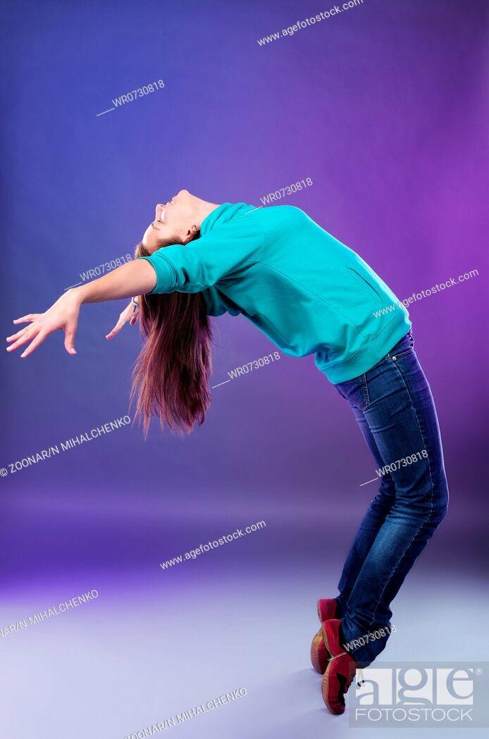 Stock Photo: Dancing woman.