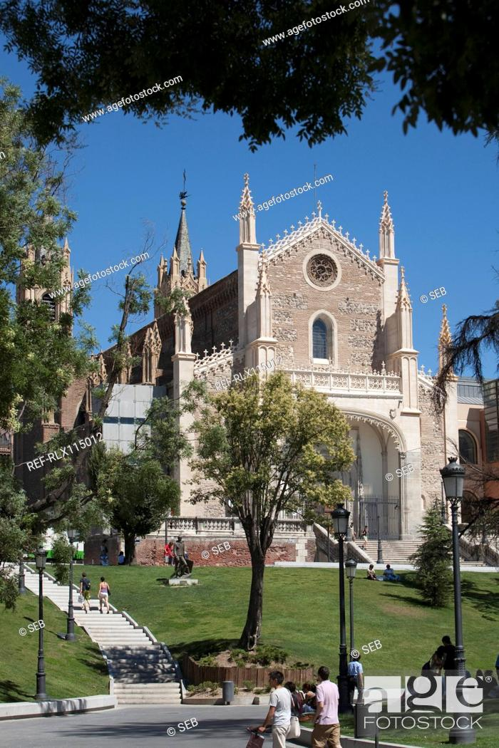 Stock Photo: Iglesia de Los Jeronimos church, Madrid, Spain.