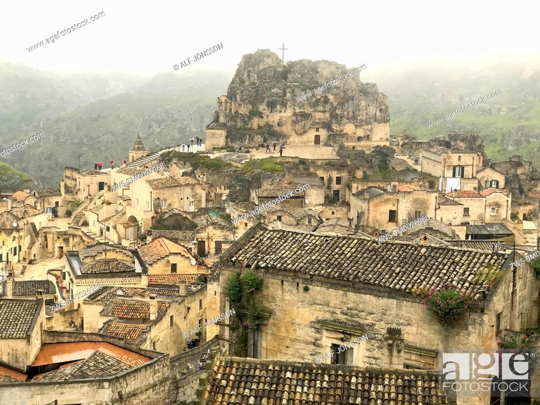 Stock Photo: A rainy day in Sassi di Matera, Basilicata, Italy.