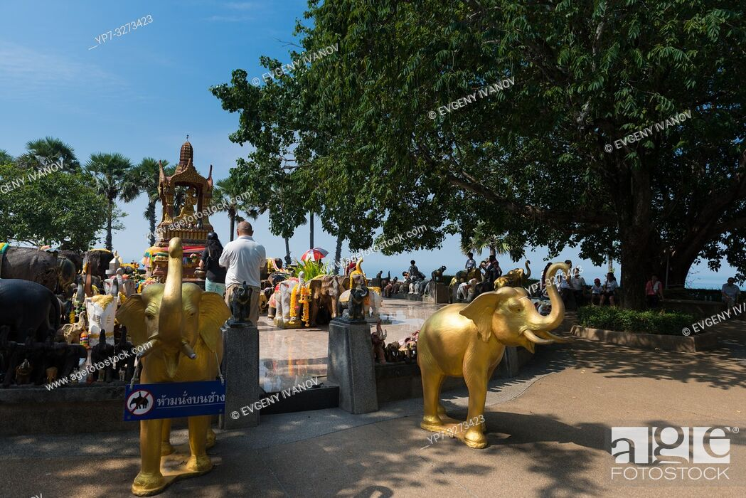 Stock Photo: Shrine to elephants on Promthep cape, Phuket.