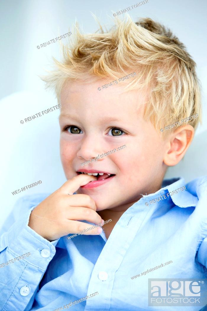 Stock Photo: Germany, Close up of boy.
