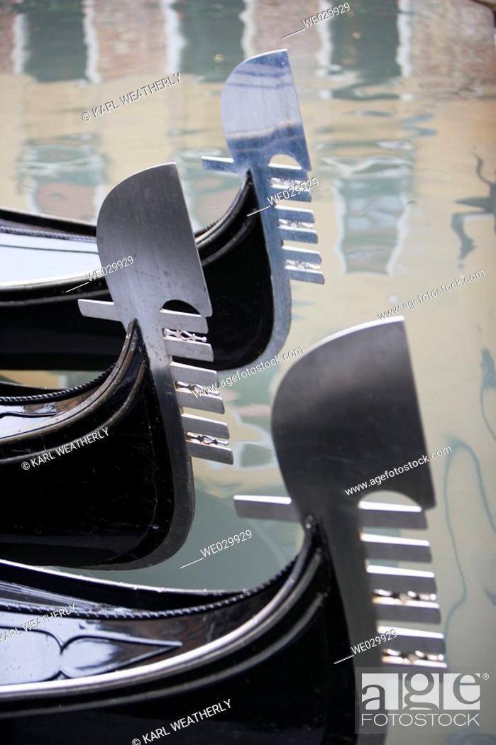 Stock Photo: Gondolas. Venice, Italy.