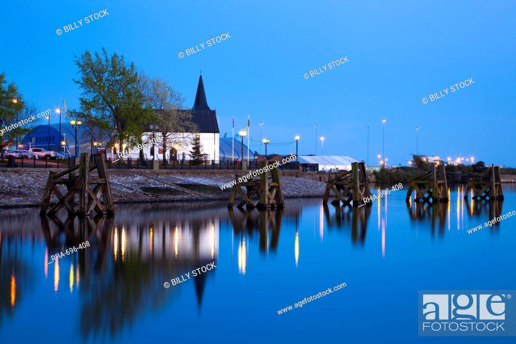 Stock Photo: Norwegian Church, Cardiff Bay, South Wales, Wales, United Kingdom, Europe.