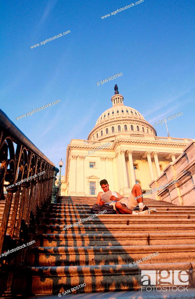 Stock Photo: Capitol Building. Washington D.C. USA.