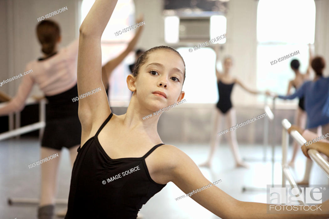Stock Photo: Girl in ballet class.
