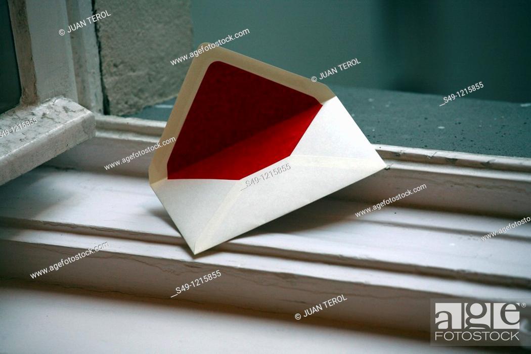 Stock Photo: Decorative White Envelope.