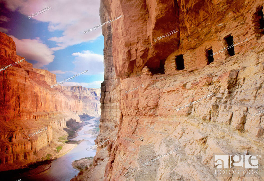 Stock Photo: Nankoweap ruins, Colorado River, Grand Canyon, Arizona, USA.