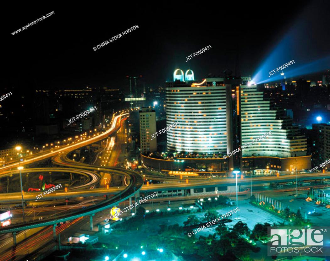 Stock Photo: China, Shanghai, Hua Ting Hotel.