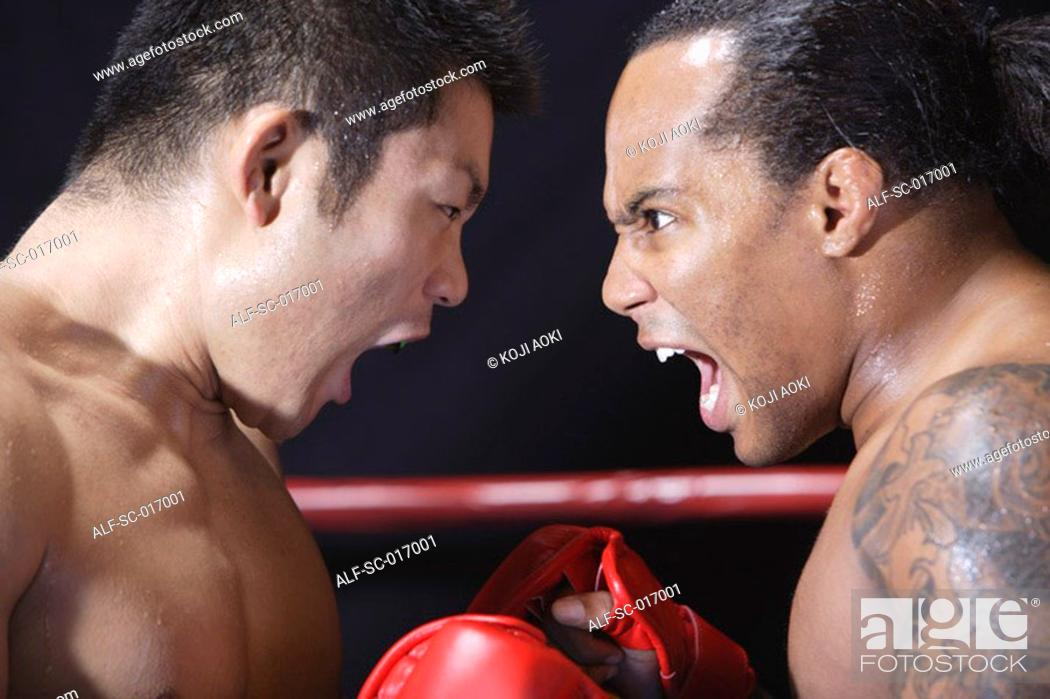 Stock Photo: Mixed Martial Arts Fighter Shouting.