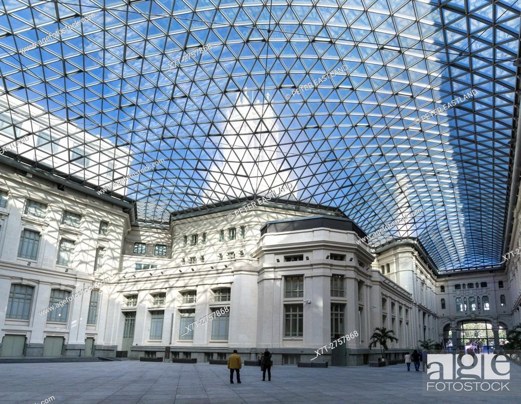 The Geodesic Crystal Gallery Covering The Courtyard Of The