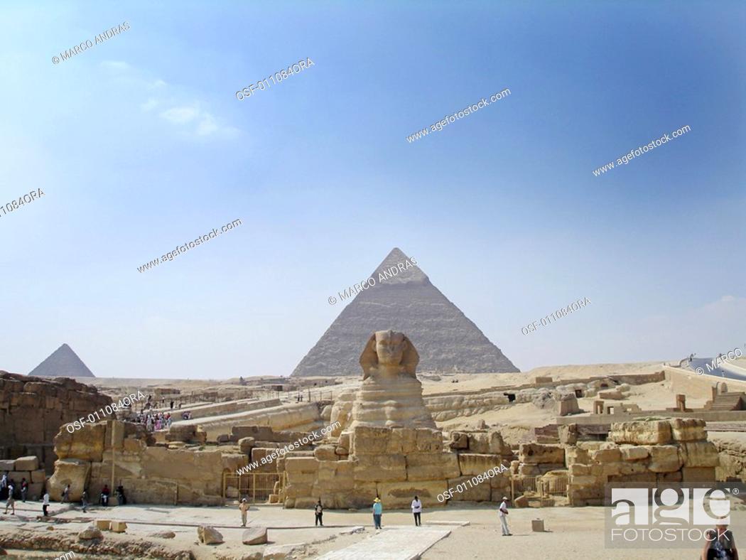 Stock Photo: egypt touristic point attraction pyramids.