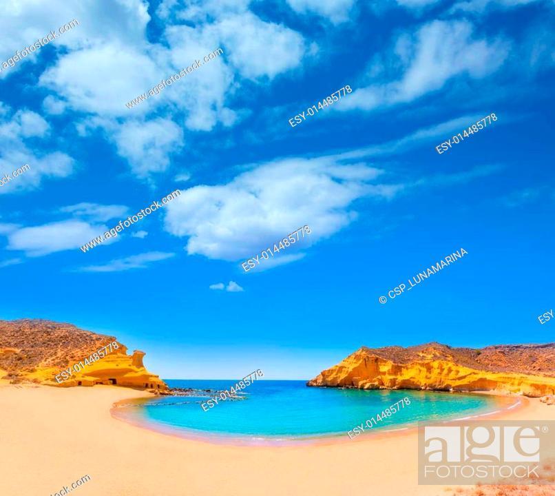 Stock Photo: Cocedores beach in Murcia near Aguilas Spain.
