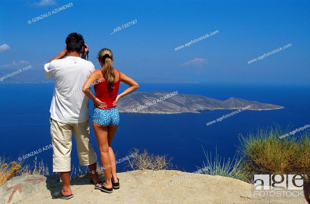 Stock Photo: Island Psira, Gulf of Mirabello, Crete, Greece.