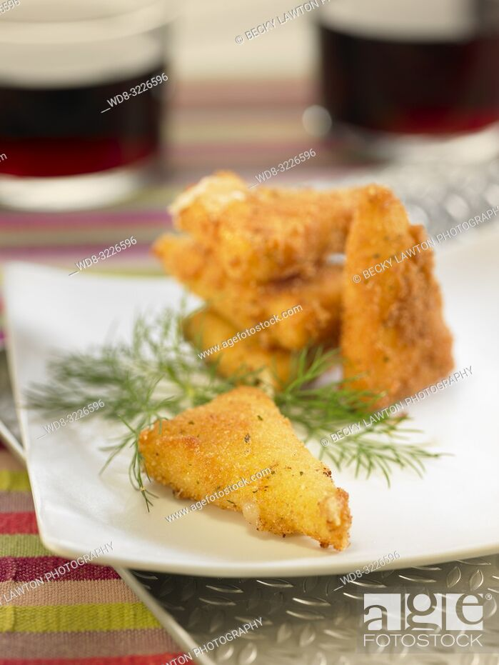 Stock Photo: frito de queso manchego / fried manchego cheese.