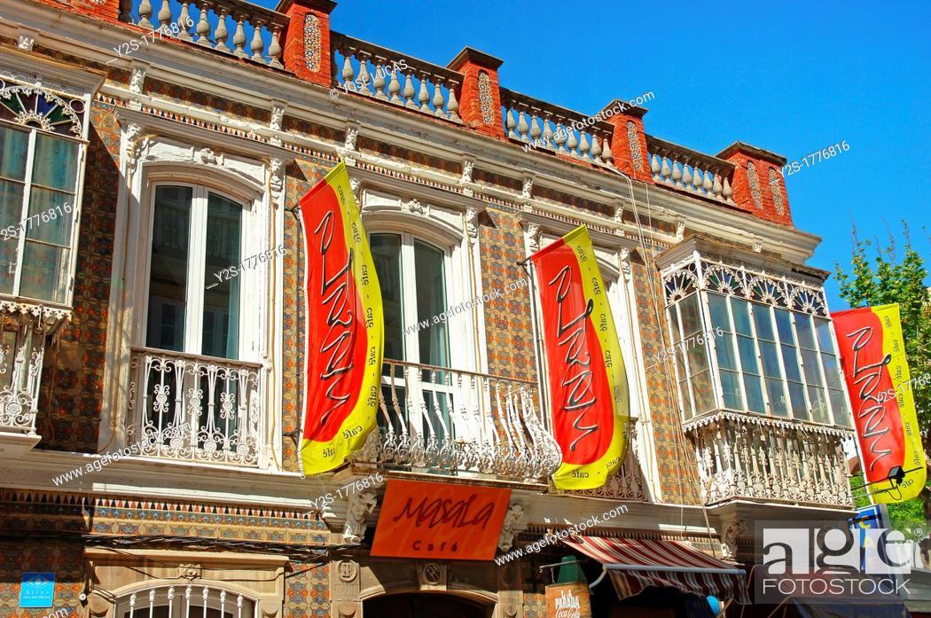 Stock Photo: Facade of the Bar Masala, La Linea de la Concepcion, Cadiz-province, Spain.