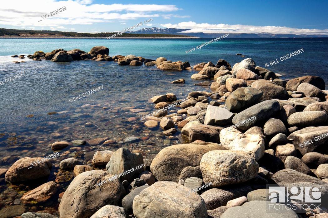 Stock Photo: Rocky coastal landscape at Green Point, Gros Morne National Park, Newfoundland, Canada.
