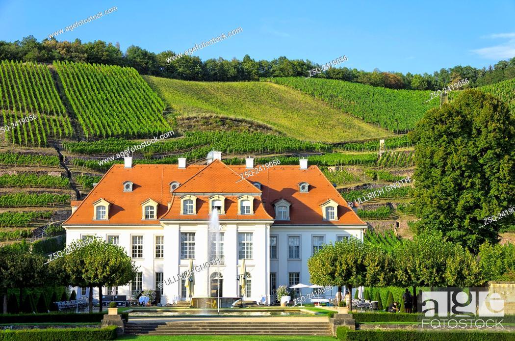 Stock Photo: Schloss Wackerbarth Manor in Radebeul near Dresden, Germany, the seat of the Saxon State Winery.