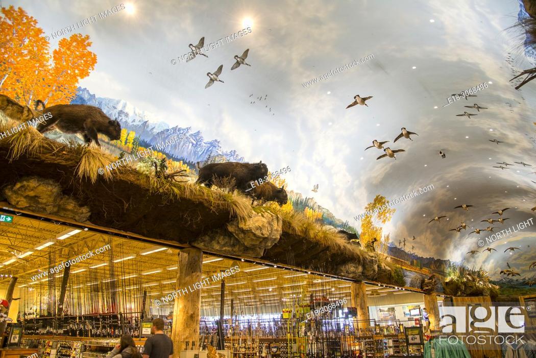 Canada, BC, Delta  Elaborate interior decoration, and retail display
