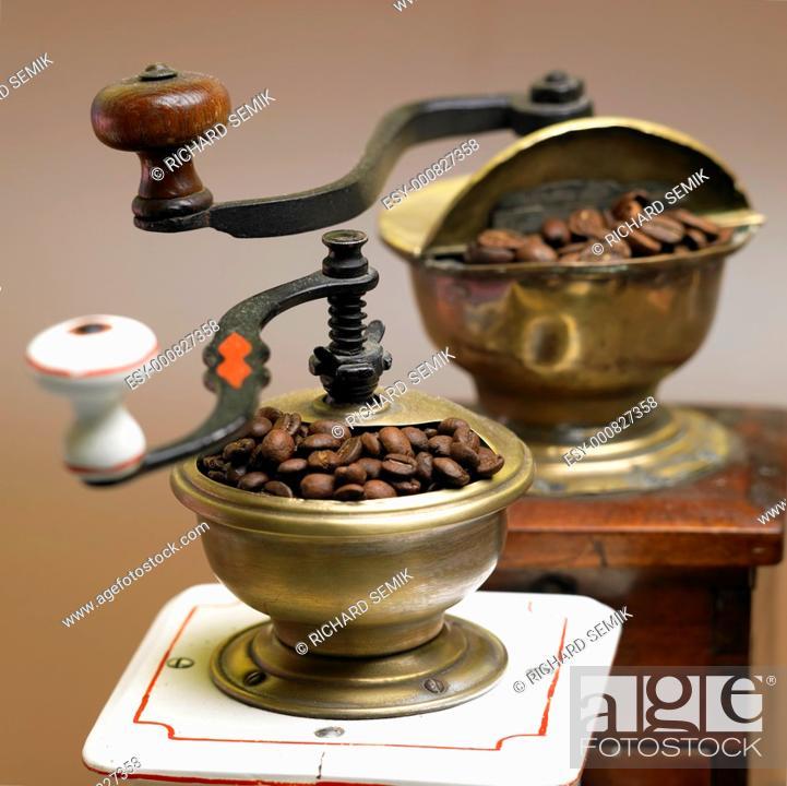 Stock Photo: coffee mills.