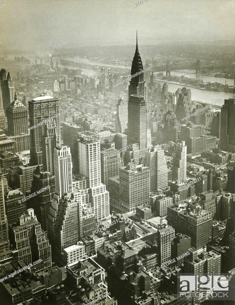 Stock Photo: USA, New York, New York City, aerial view of Manhattan.