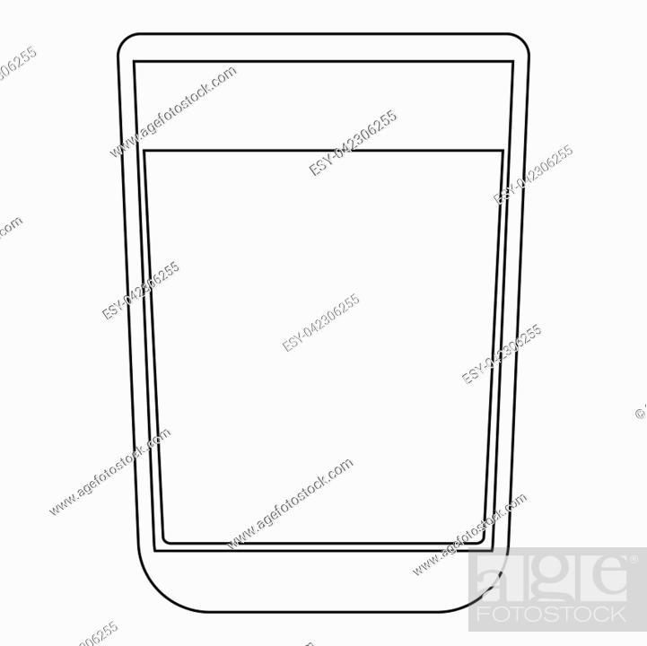 Vector: Glass with fluid the black color icon vector illustration.