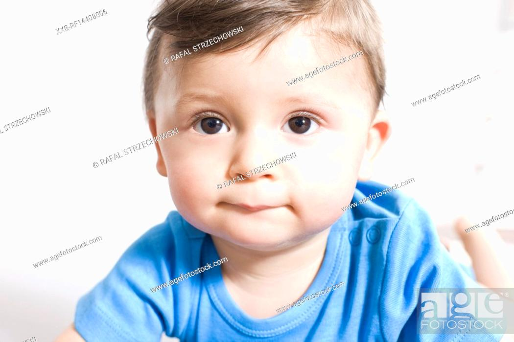 Stock Photo: Close-up of baby face.
