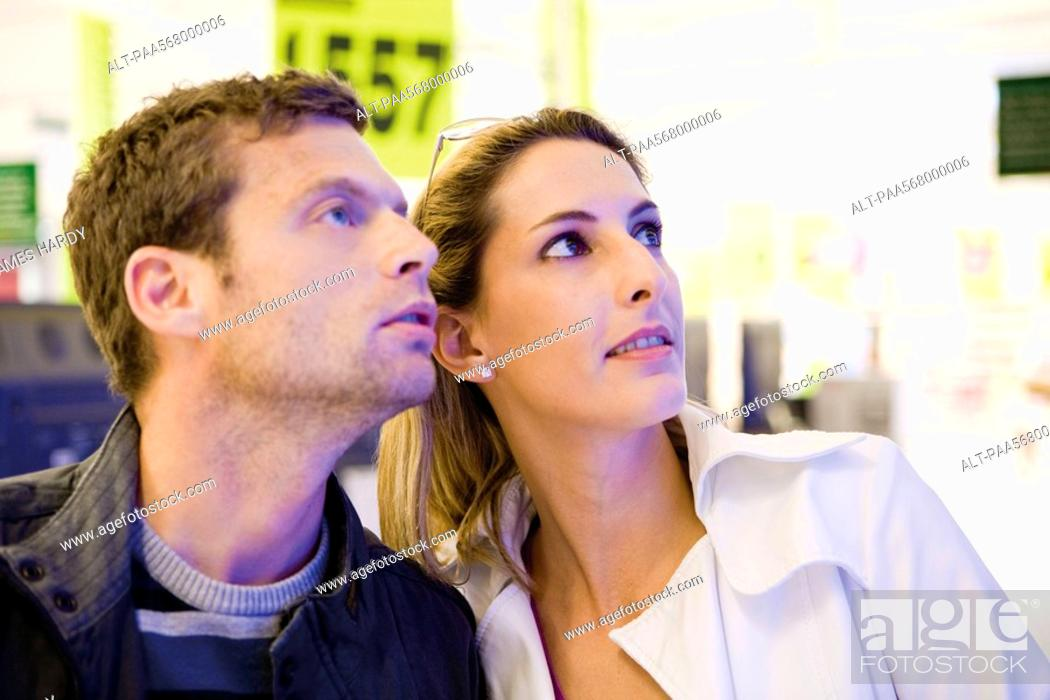 Stock Photo: Couple together in store.
