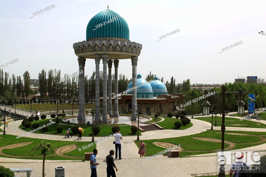 Stock Photo: Tashkent, Uzbekistan - April 25, 2015: Memorial complex of victims of Stalin's repression. One of the famous landmark in the city that attracts tourists.