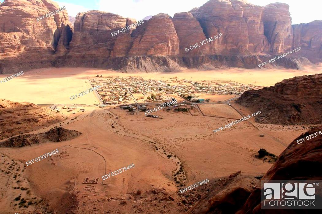 Stock Photo: Wadi Rum desert landscape, Jordan.