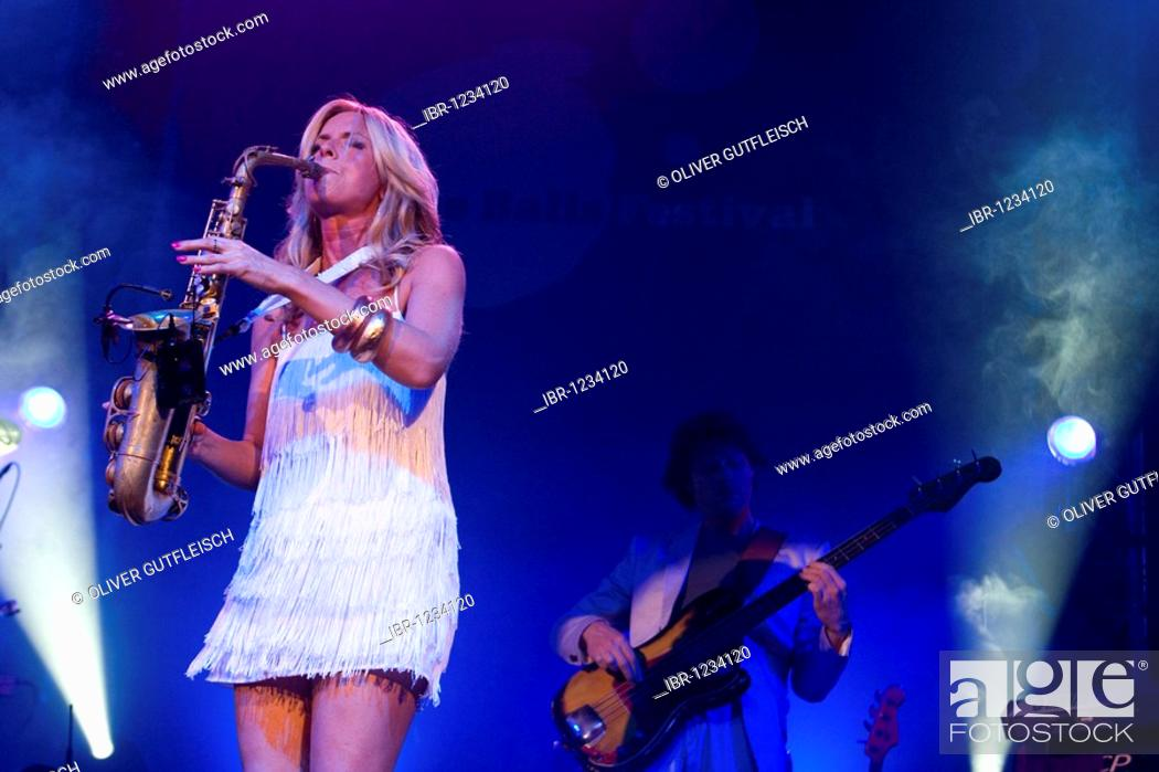 The Dutch saxophon player Candy Dulfer Live at the Blue