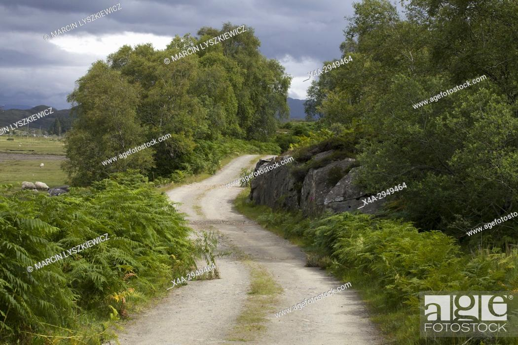 Stock Photo: A Road to Singing Sands, West Scotland.