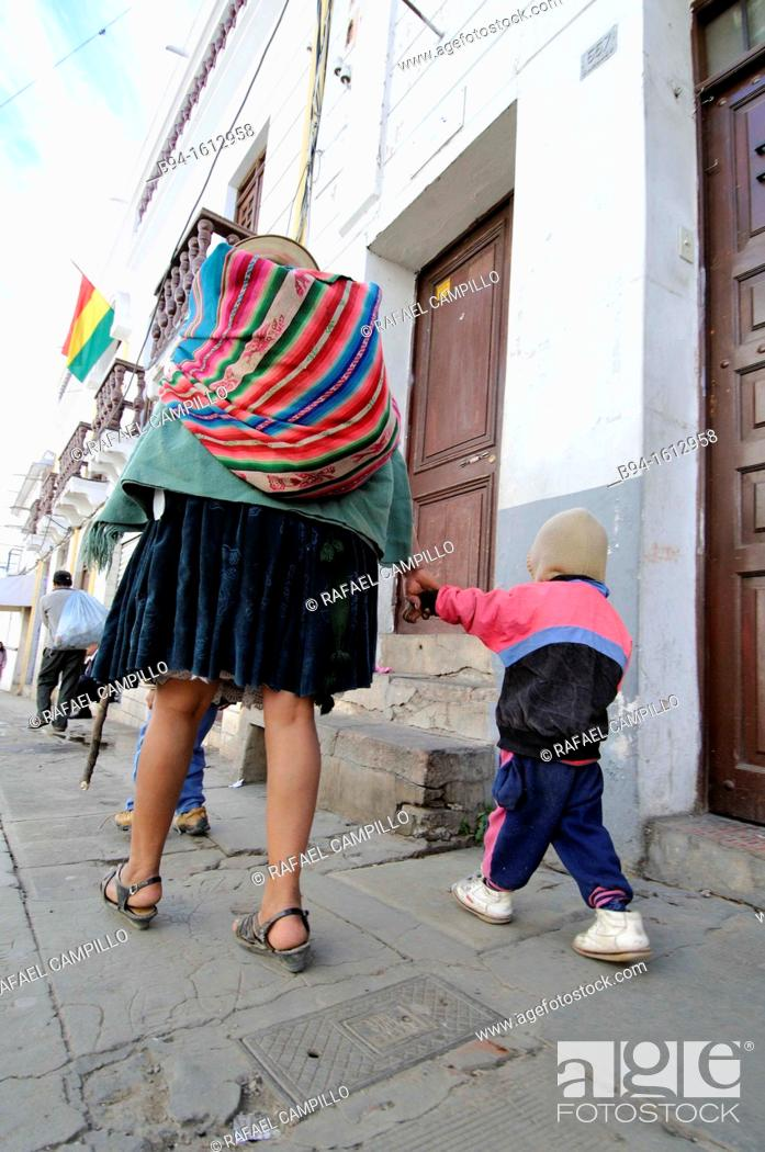 Stock Photo: People. Sucre, also known historically as Charcas, La Plata and Chuquisaca is the constitutional capital of Bolivia and the capital of the department of.