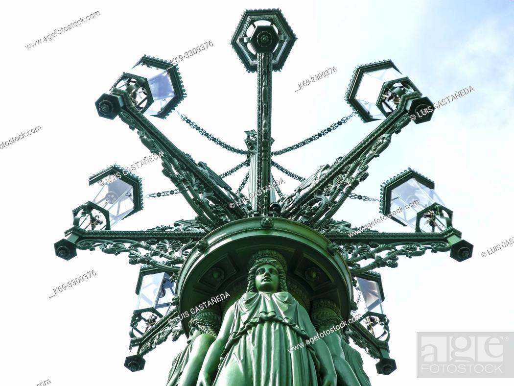 Stock Photo: Lammpost. . The Castle Disttrict. . Prague. Czech Republic.