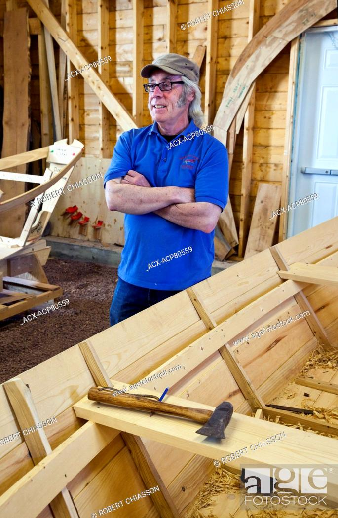 Master Boat Builder Jerome Canning In His Boat Shed At The Wooden