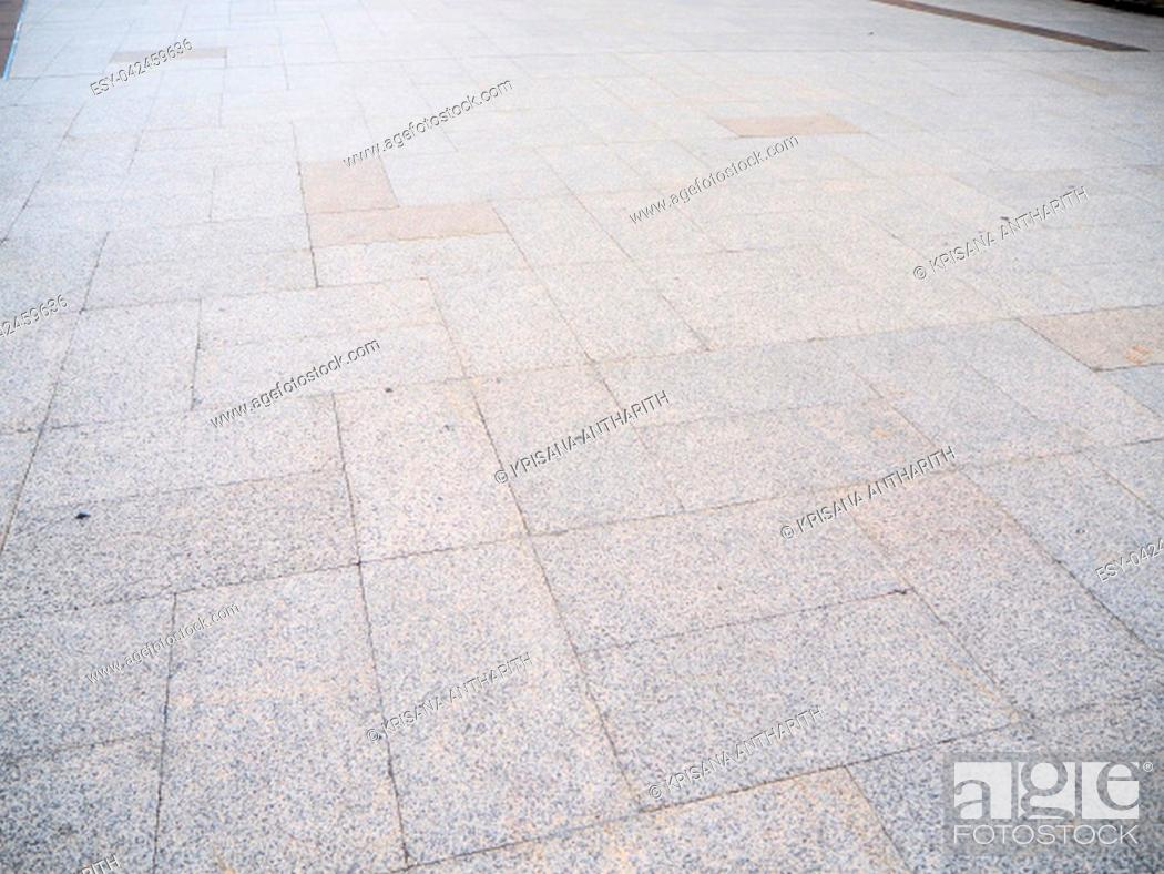 Stock Photo: Marble stone tiled floor pattern of Metropolitan Rapid Transit in Thailand.