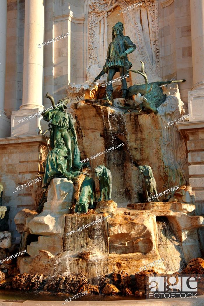 Stock Photo: Matthias Fountain, Buda Castle, Budapest, Hungary.