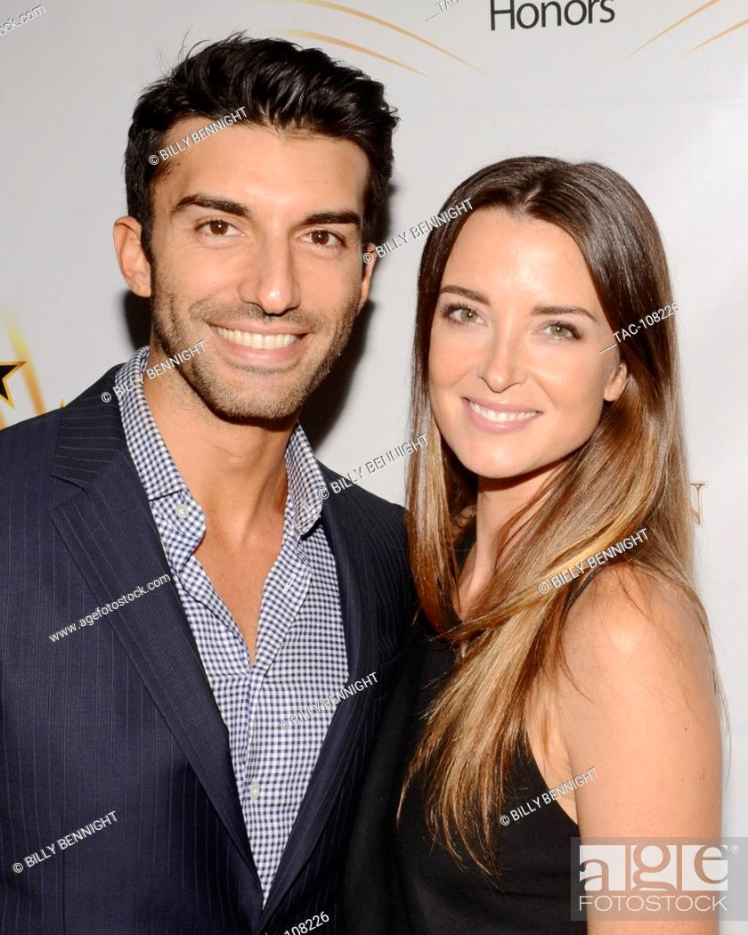Stock Photo: Justin Baldoni and Emily Foxler attends the Hollywood Walk of Fame Honors at Taglyan Complex on October 25, 2016 in Los Angeles, California.