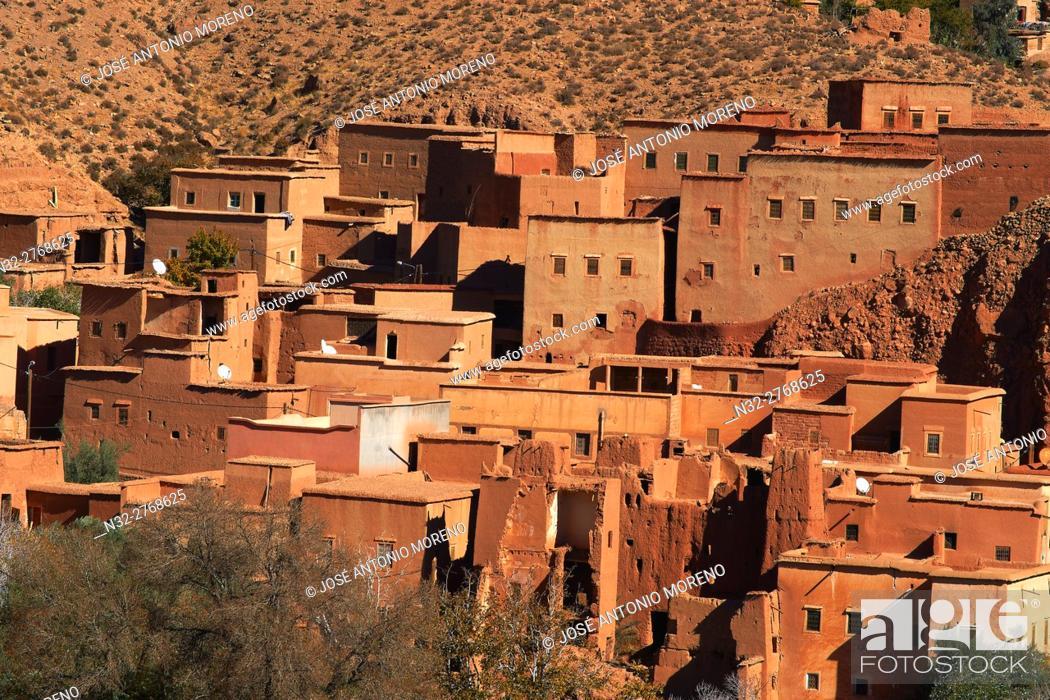 Stock Photo: Dades, Dades Valley, Dades Gorges, High Atlas, Morocco, Maghreb, North Africa.