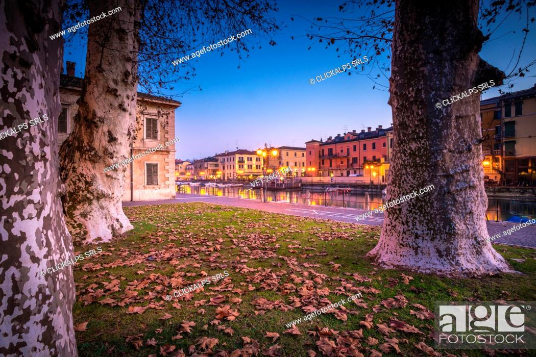 Stock Photo: Peschiera sul Garda, Garda Lake, Veneto, Italy.