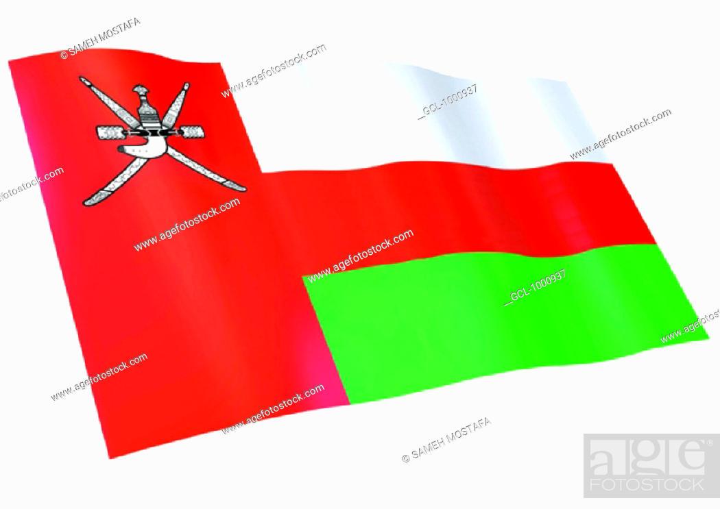 Stock Photo: flag of Oman.