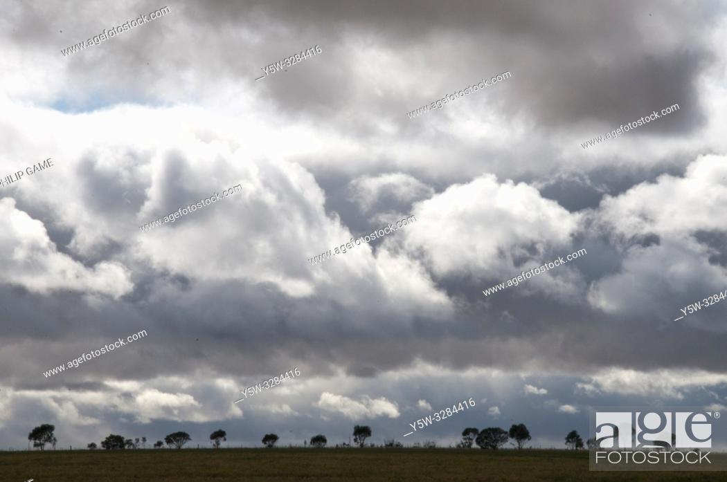 Stock Photo: Squally skies in the Wimmera, western Victoria, Australia.