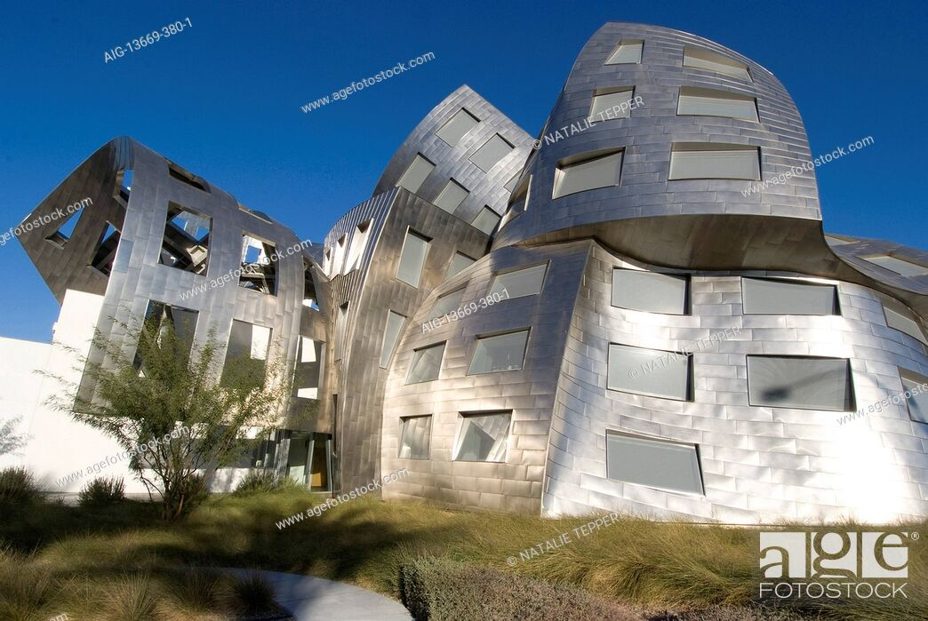 Stock Photo: The Cleveland Clinic, Lou Ruvo Center for Brain Health, Frank Gehry architect, Las Vegas, Nevada, United States.