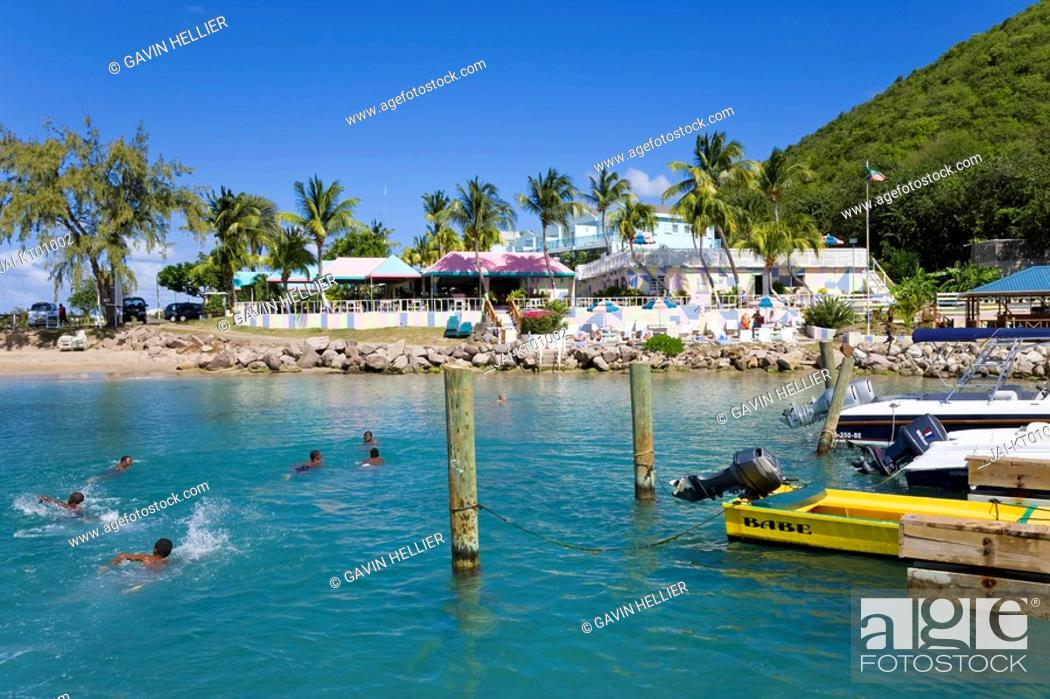 Stock Photo Caribbean St Kitts And Nevis Frigate Bay Beach