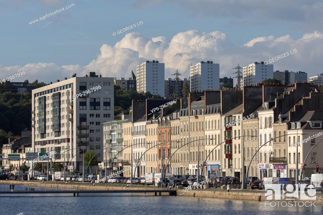 Stock Photo: Quai de France. Cherbourg-Octeville, Normandy, France.
