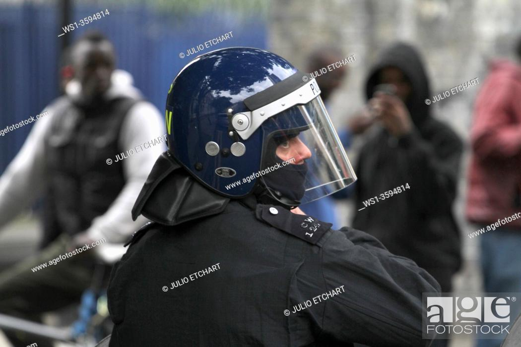Stock Photo: Damaged caused by rioters in Hackney, London, UK. Photo by Julio Etchart.