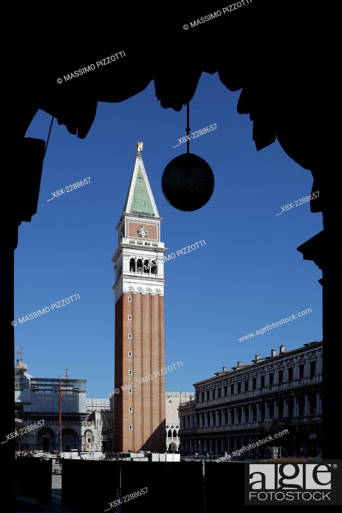 Stock Photo: St. Mark's campanile, Venice, Italy.