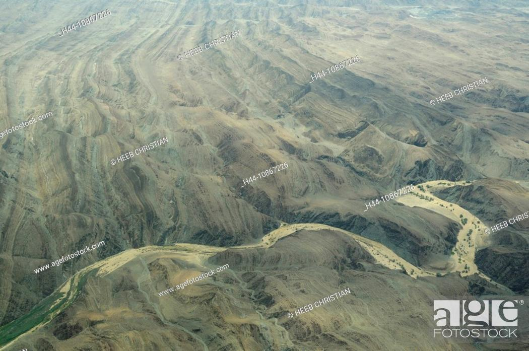 Stock Photo: Aerial view, flight, Skeleton Coast, Swakopmund, Swakopmund, Erongo Region, Namibia, Africa, Travel, Nature.