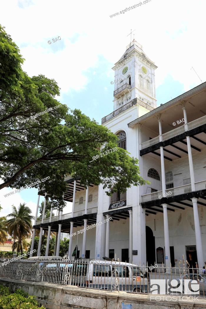Stock Photo: The House of Wonders, Beit el-Ajaib, now the National Museum, Stone Town, Zanzibar, Tanzania, Africa.