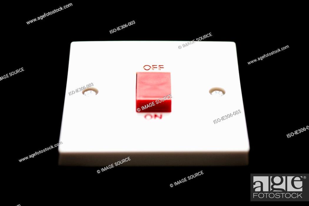 Stock Photo: Light switch.